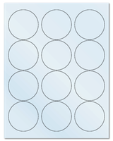 """2.5"""" Dia. Frosty (Matte) Clear Sheets"""