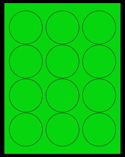 "2.5"" Dia. Fluorescent Green Sheets"