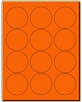"2.5"" Dia. Fluorescent Orange Sheets"
