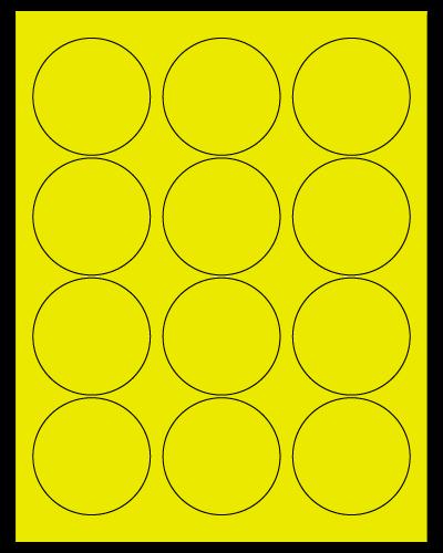 "2.5"" Dia. Fluorescent Yellow Sheets"