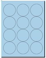 "2.5"" Dia. Pastel Blue Sheets"