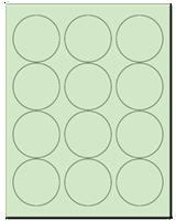 """2.5"""" Dia. Pastel Green Sheets"""