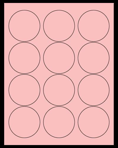 "2.5"" Dia. Pastel Pink Sheets"