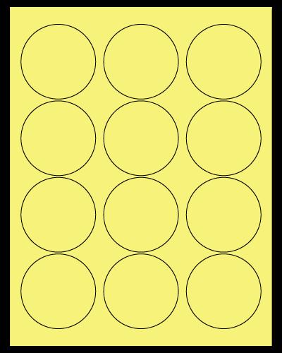 "2.5"" Dia. Pastel Yellow Sheets"