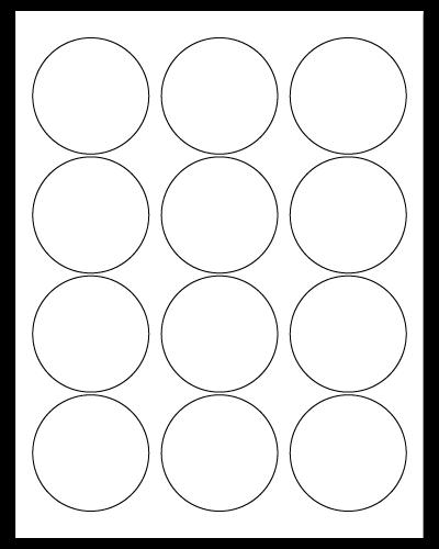 "2.5"" Dia. White Matte Sheets"