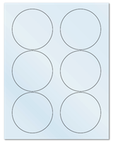 """3.33"""" Dia. Frosty (Matte) Clear Sheets"""