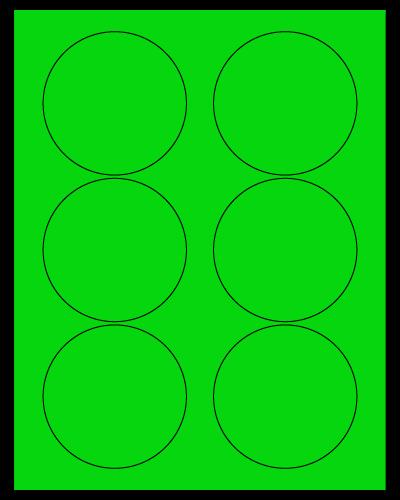"3.33"" Dia. Fluorescent Green Sheets"