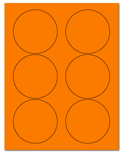"3.33"" Dia. Fluorescent Orange Sheets"
