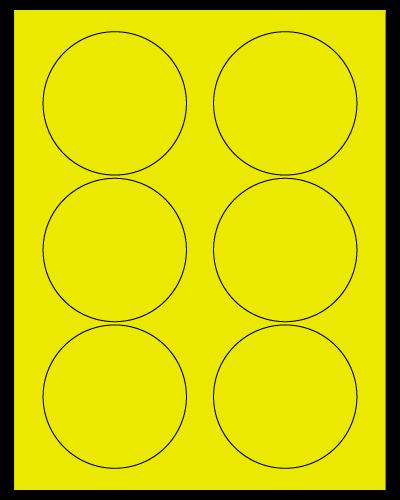"3.33"" Dia. Fluorescent Yellow Sheets"