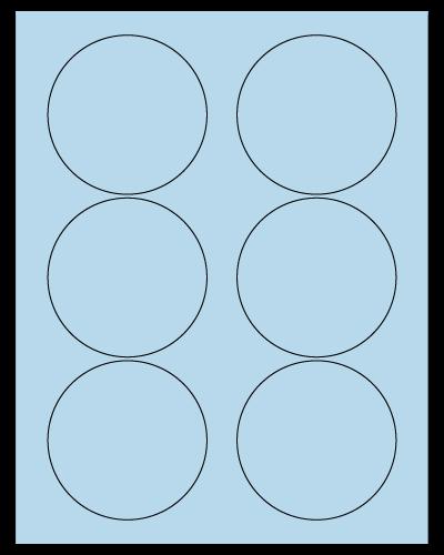 "3.33"" Dia. Pastel Blue Sheets"