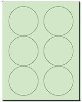 """3.33"""" Dia. Pastel Green Sheets"""