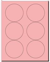 "3.33"" Dia. Pastel Pink Sheets"