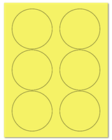 "3.33"" Dia. Pastel Yellow Sheets"