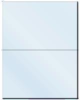 "8.5"" X 5.5"" Frosty (Matte) Clear Sheets"
