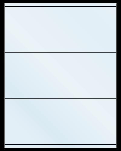 "8.5"" X 3.5"" Frosty (Matte) Clear Sheets"