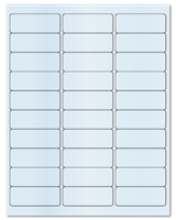 "2.625"" X 1"" Clear Matte Laser Sheets"