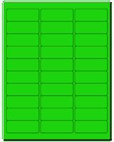 """2.625"""" X 1"""" Fluorescent Green Sheets"""
