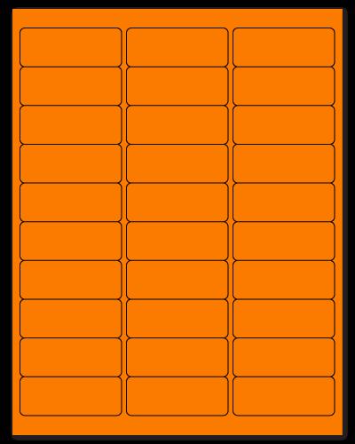 "2.625"" X 1"" Fluorescent Orange Sheets"