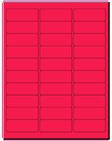 "2.625"" X 1"" Fluorescent Pink Sheets"