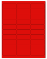 "2.625"" X 1"" Fluorescent Red Sheets"