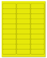 "2.625"" X 1"" Fluorescent Yellow Sheets"