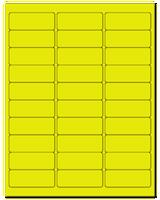 "2.625"" X 1"" Fluorescent Yellow Sheets"