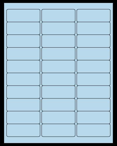 "2.625"" X 1"" Pastel Blue Sheets"