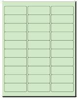 "2.625"" X 1"" Pastel Green Sheets"
