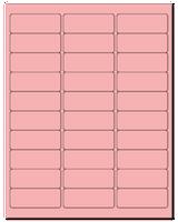 "2.625"" X 1"" Pastel Pink Sheets"