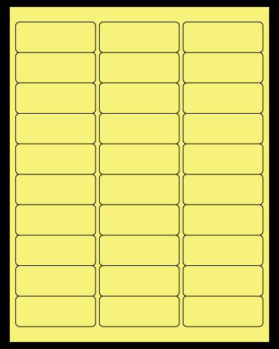 "2.625"" X 1"" Pastel Yellow Sheets"