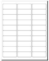 """2.625"""" X 1"""" 30 Labels per Sheet"""