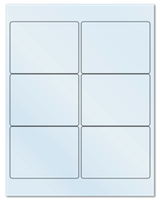 "4"" X 3"" Frosty (Matte) Clear Sheets"