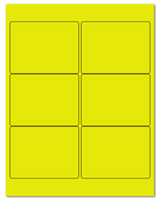"4"" X 3"" Fluorescent Yellow Sheets"