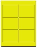 "4"" X 3"" Fluorescent Yellow Sheets"
