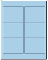 "4"" X 3"" Pastel Blue Sheets"