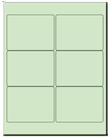 "4"" X 3"" Pastel Green Sheets"