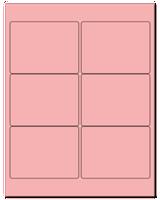 "4"" X 3"" Pastel Pink Sheets"