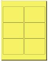 "4"" X 3"" Pastel Yellow Sheets"