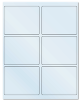 "4"" X 3.25"" Frosty (Matte) Clear Sheets"