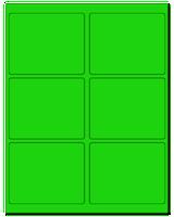 """4"""" X 3.25"""" Fluorescent Green Sheets"""
