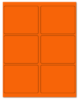 "4"" X 3.25"" Fluorescent Orange Sheets"