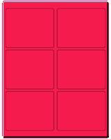 "4"" X 3.25"" Fluorescent Pink Sheets"