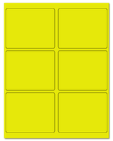 "4"" X 3.25"" Fluorescent Yellow Sheets"