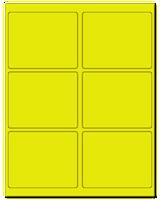 "4"" X 3.25"" Fluorescent Yellow Sheets"