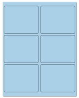"4"" X 3.25"" Pastel Blue Sheets"