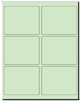 "4"" X 3.25"" Pastel Green Sheets"
