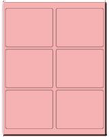 "4"" X 3.25"" Pastel Pink Sheets"