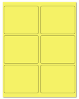 "4"" X 3.25"" Pastel Yellow Sheets"