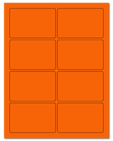 "3.75"" X 2.438"" Fluorescent Orange Sheets"