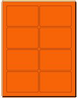 "3.75"" X 2.438"" Fluorescent Orange Sheets"